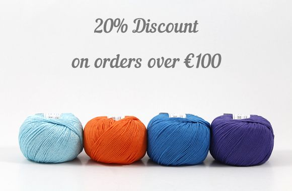 20% Discount on orders over €100
